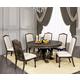 Furniture of America Arcadia 5pc Round Dining Set in Rustic Natural Tone