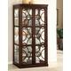 Furniture of America Woodmont Curio in Walnut CM3663CR