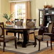 Furniture of America Evelyn Dining Table in Walnut CM3418T