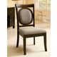 Furniture of America Evelyn Side Chair in Walnut (Set of 2) CM3418SC-2PK