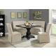 Furniture of America Nerissa Square 5pc Dining Set in Antique Black