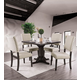 Furniture of America Glenbrook 5pc Square Dining Set in Brown Cherry