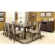 Furniture of America Eris 7pc Rectangular Dining Set in Weathered Gray