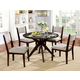 Furniture of America Kaidence 5pc Dining Set in Brown Cherry