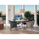 Universal Coastal Living Escape 5PC Round Dining Room Set in Sandbar
