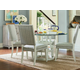 Universal Coastal Living Escape 5PC Round Glass Dining Room Set in Sandbar