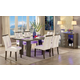 Furniture of America Luminar I 7pc Dining Set in Gray