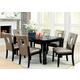 Furniture of America Evant I 7pc Dining Set in Black