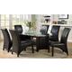 Furniture of America Madison 7pc Dining Set in Black
