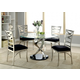 Furniture of America Roxo 5pc Dining Set in Silver