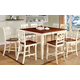 Furniture of America Torrington 9pc Dining Set in Vintage White or Cherry