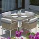 Skyline Design Brafta 5-Piece Square Dining Set in Seashell