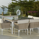 Skyline Design Brafta 9-Piece Large Square Dining Set in Seashell