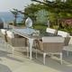 Skyline Design Brafta 7-Piece Rectangular Dining Set in Seashell