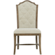 Bernhardt Rustic Patina Upholstered Side Chair in Peppercorn (Set of 2)