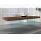 J&M Furniture Chestnut Modern Dining Table in Walnut 177808