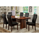 Furniture of America Bonneville I 7pc Dining Set in Cherry and Black