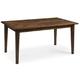Bassett Mirror Paxton Rectangle Dining Table in Medium Brown 3237-DR-600