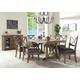 Acme Boyden 7PC Rectangular Dining Room Set in Antique Oak 77115
