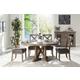 Acme Boyden 5PC Round Dining Room Set in Antique Oak