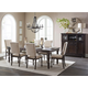 Homelegance Begonia 5pc Dining Room Set in Gray