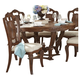 Homelegance Moorewood Park Round Dining Table in Pecan 1704-60