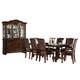 Homelegance Lordsburg 7pc Dining Table Set in Brown Cherry