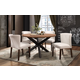 Homelegance Nelina 5pc Round Dining Room Set in Espresso
