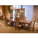 AICO Eden's Paradise 7pc Rectangular Pedestal Dining Set in Ginger
