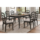Homelegance Coring 5pc Dining Room Set in Antiqued Gray