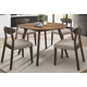 Homelegance Beane 7pc Dining Room Set in Natural Walnut and Espresso