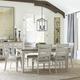Liberty Furniture Heartland 7pc Rectangular Leg Dining Room Set in Antique White