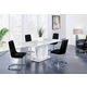 Global Furniture D894 5 Piece Dining Table Set in White