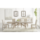 Essentials For Living Traditions 7pcs Haute Extension Dining Room Set in Natural Gray