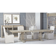 Essentials For Living Bella Antique 5pcs Monastery Dining Room Set in Smoke Gray