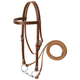 Weaver Leather Draft Horse Headstall Set  Brown