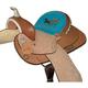 HH Saddlery Turquoise Horse Barrel Saddle 17