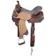 Silver Royal Jameson Barrel Saddle 16in Brn Tool L