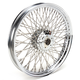 Chrome 19 x 2.15 80-Spoke Laced Wheel Assembly for Single or Dual Disc - 0203-0083