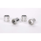 Polished Billet Aluminum 1.25 in. Long Wheel Spacers for 1 in. Axle - 7527
