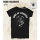 Womens Black SOA Arched with Reaper T-Shirt