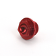 Aluminum Red Anodized Oil Filler Plug - 24-001