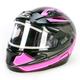 Black/Pink/White CL-MAXIIBTSN Zader Modular Helmet w/Electric Shield