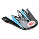 Black/Blue Visor for Moto-9 Emblem Helmet - 2036784