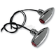 Chrome Astro Red LED Center Mount Marker Lights - 05-52RC