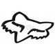 White 7 in. Big FoxHead Sticker - 14423-008-NS
