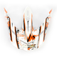 Multi Orange FX19 Visor - 0132-0716
