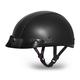 100% Leather Skull Cap w/Mini Scoop Visor