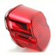 Red Laydown Taillight Lens - 2010-0799