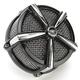 Black/Chrome Hi-Five Mach 2 Air Cleaner Kit - 9536